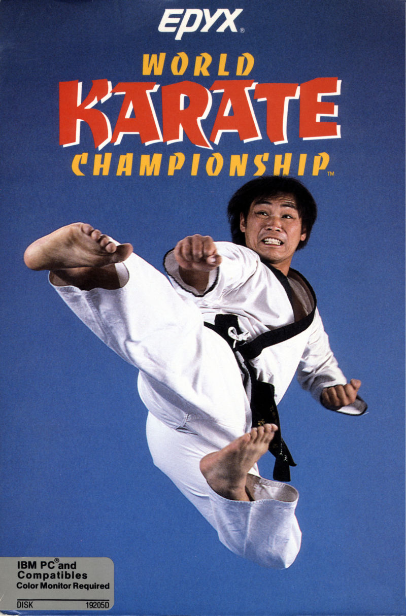 World Karate Championship PC Booter Front Cover