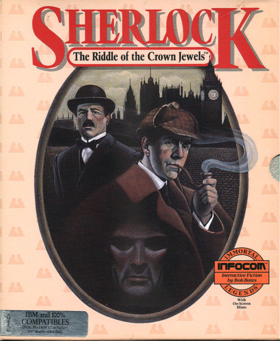 Sherlock: The Riddle of the Crown Jewels DOS Front Cover
