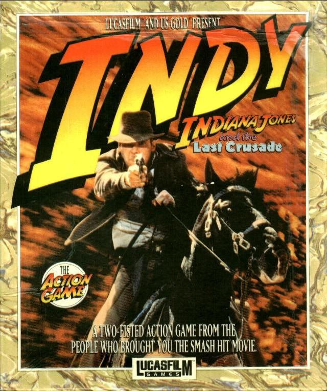 Indiana Jones and the Last Crusade: The Action Game DOS Front Cover