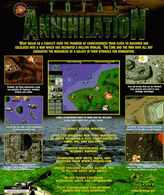 Total Annihilation Windows Back Cover