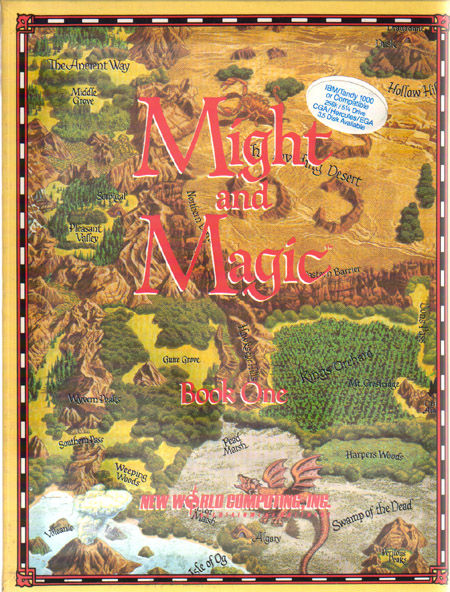 Might and Magic: Book One - Secret of the Inner Sanctum DOS Front Cover