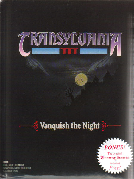 Transylvania III: Vanquish the Night DOS Front Cover