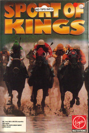 Omni-Play Horse Racing DOS Front Cover