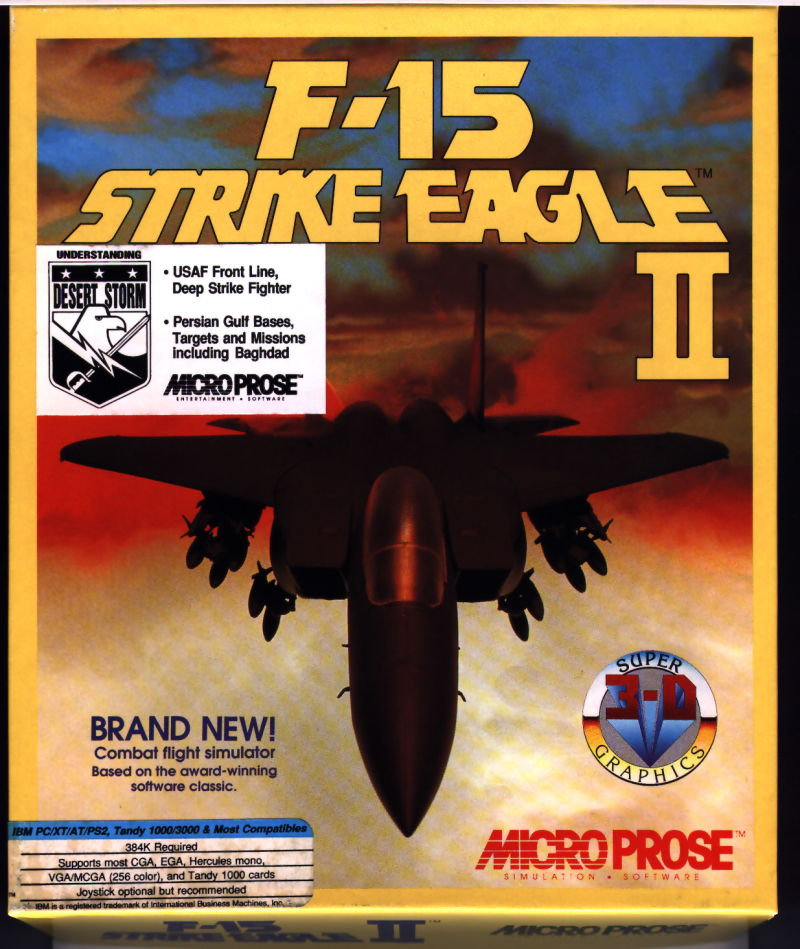 F-15 Strike Eagle II DOS Front Cover