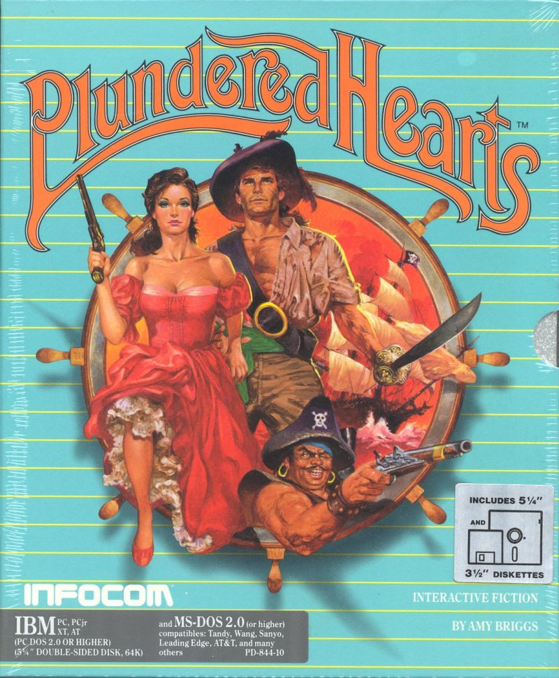 Plundered Hearts DOS Front Cover