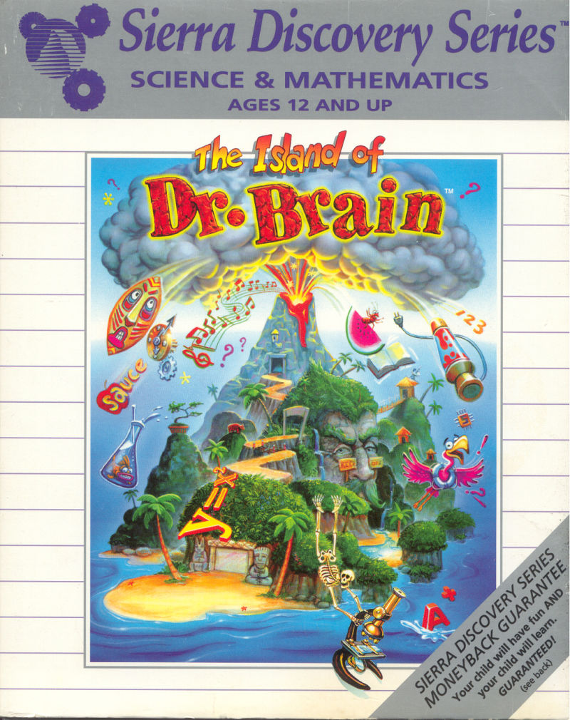 The Island of Dr. Brain DOS Front Cover