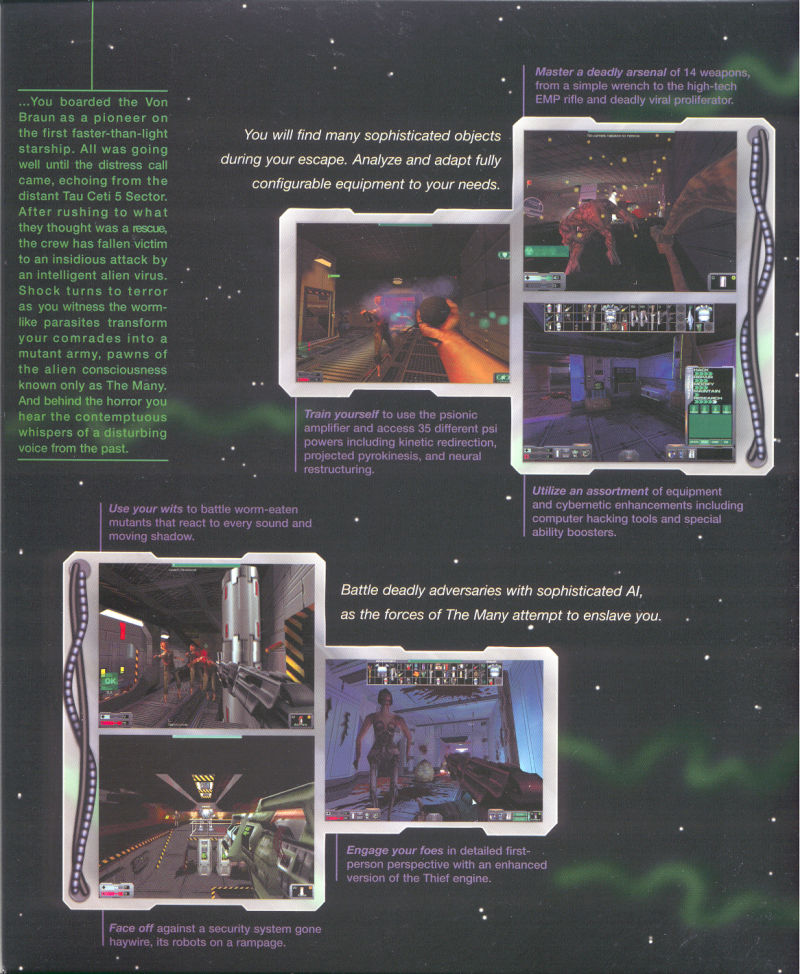 System Shock 2 Windows Inside Cover Right Flap