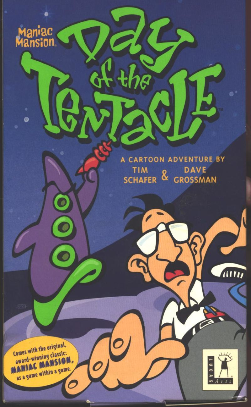 Maniac Mansion: Day of the Tentacle DOS Front Cover Side 1
