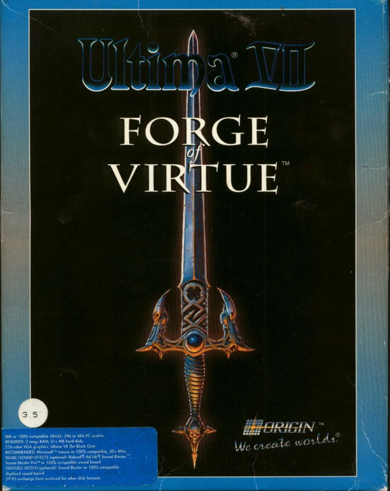 Ultima VII: Forge of Virtue DOS Front Cover