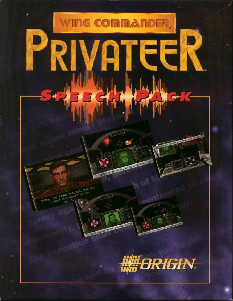 Wing Commander: Privateer - Speech Pack DOS Front Cover