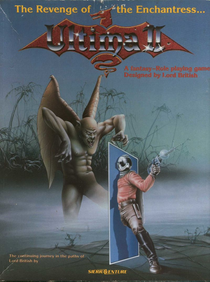 Ultima II: The Revenge of the Enchantress... DOS Front Cover