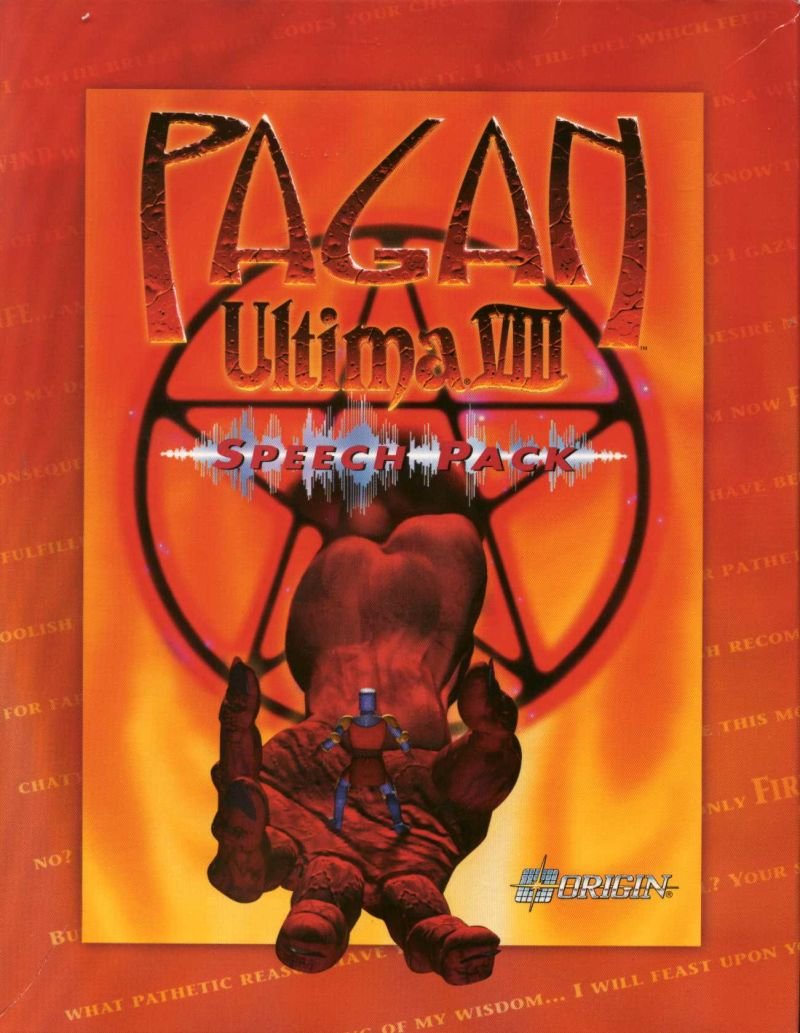 Pagan: Ultima VIII - Speech Pack DOS Front Cover