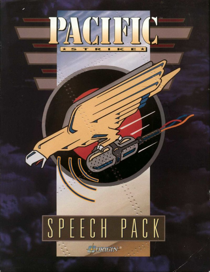 Pacific Strike Speech Pack DOS Front Cover