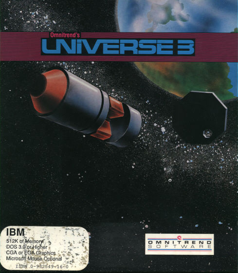 Universe 3 DOS Front Cover