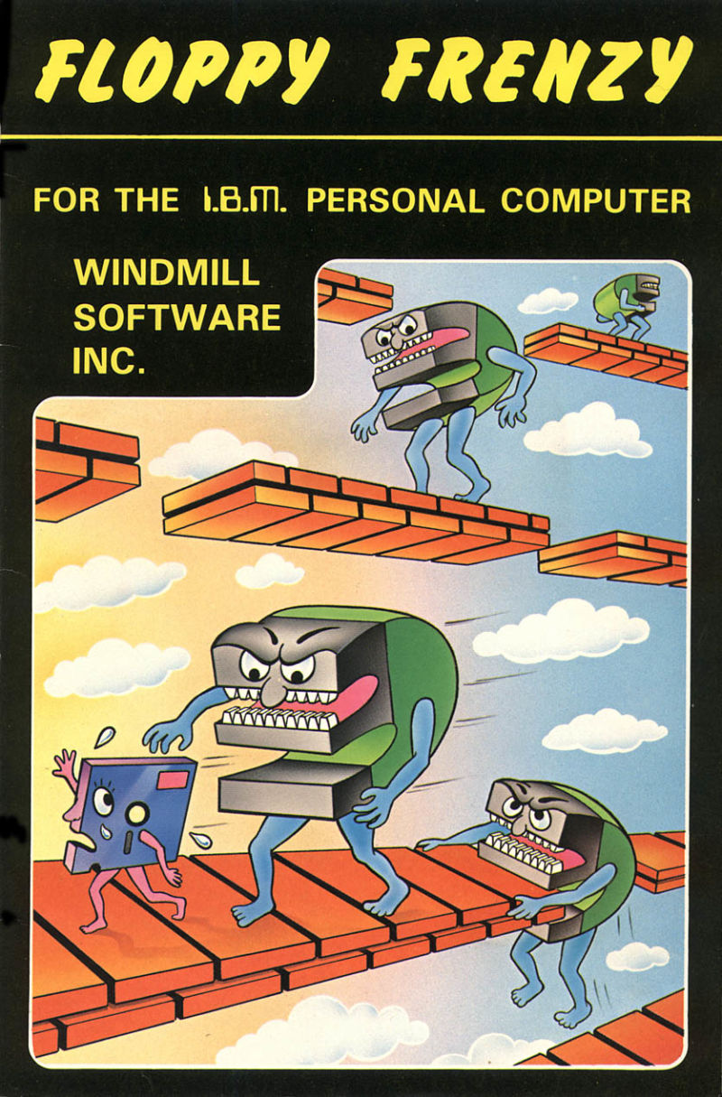 Floppy Frenzy PC Booter Front Cover