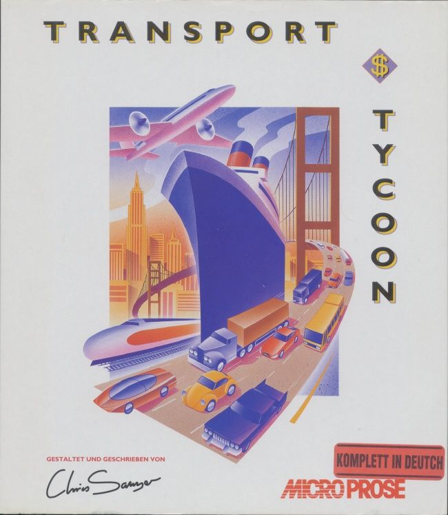 Transport Tycoon DOS Front Cover