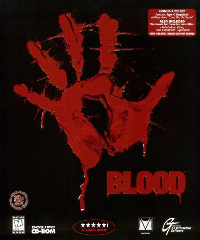 Blood DOS Front Cover