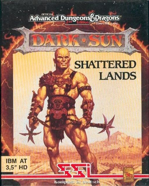 Dark Sun: Shattered Lands DOS Front Cover