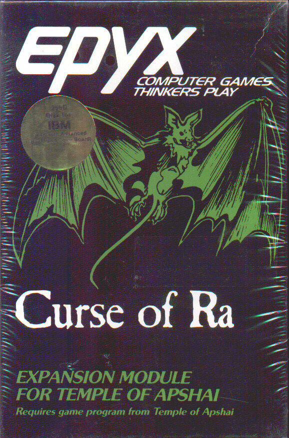 Dunjonquest: Curse of Ra DOS Front Cover