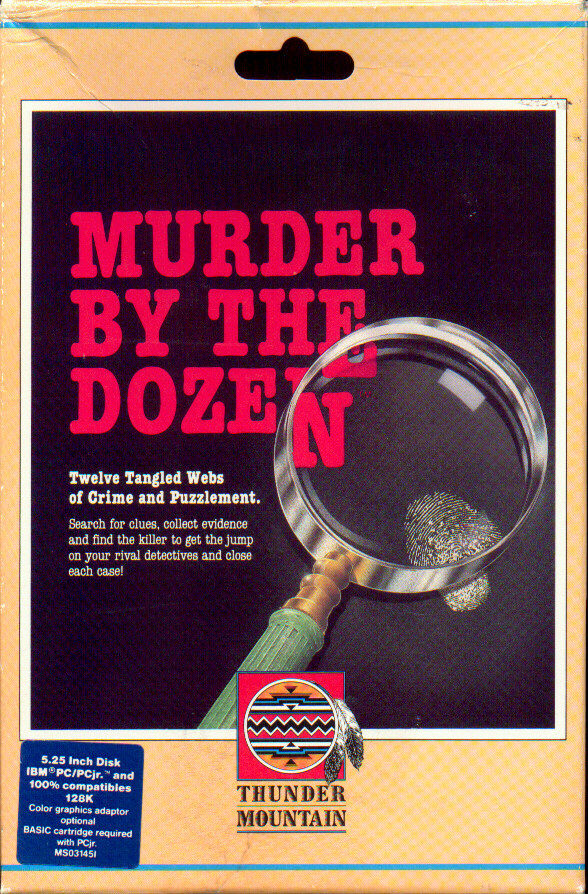 Mystery Master: Murder by the Dozen DOS Front Cover