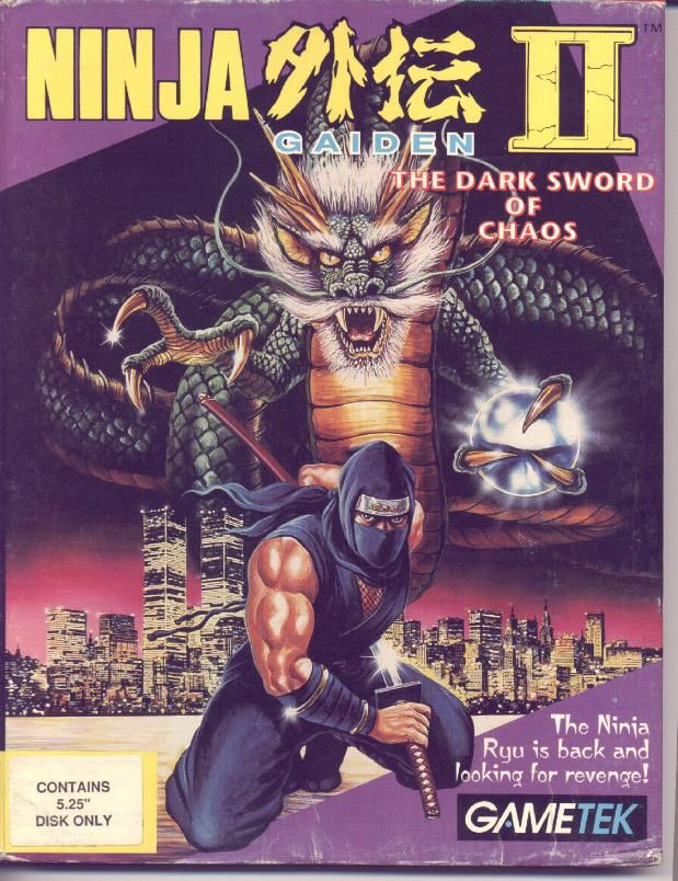 Ninja Gaiden II: The Dark Sword of Chaos DOS Front Cover
