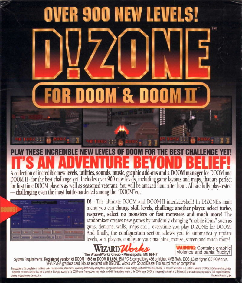D!Zone DOS Back Cover