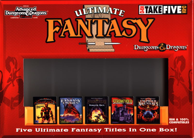 Dungeons & Dragons Ultimate Fantasy DOS Front Cover