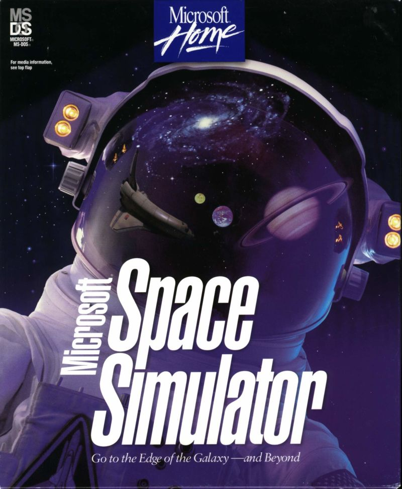 Microsoft Space Simulator DOS Front Cover