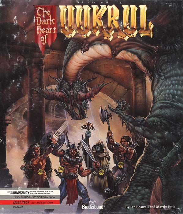 The Dark Heart of Uukrul DOS Front Cover