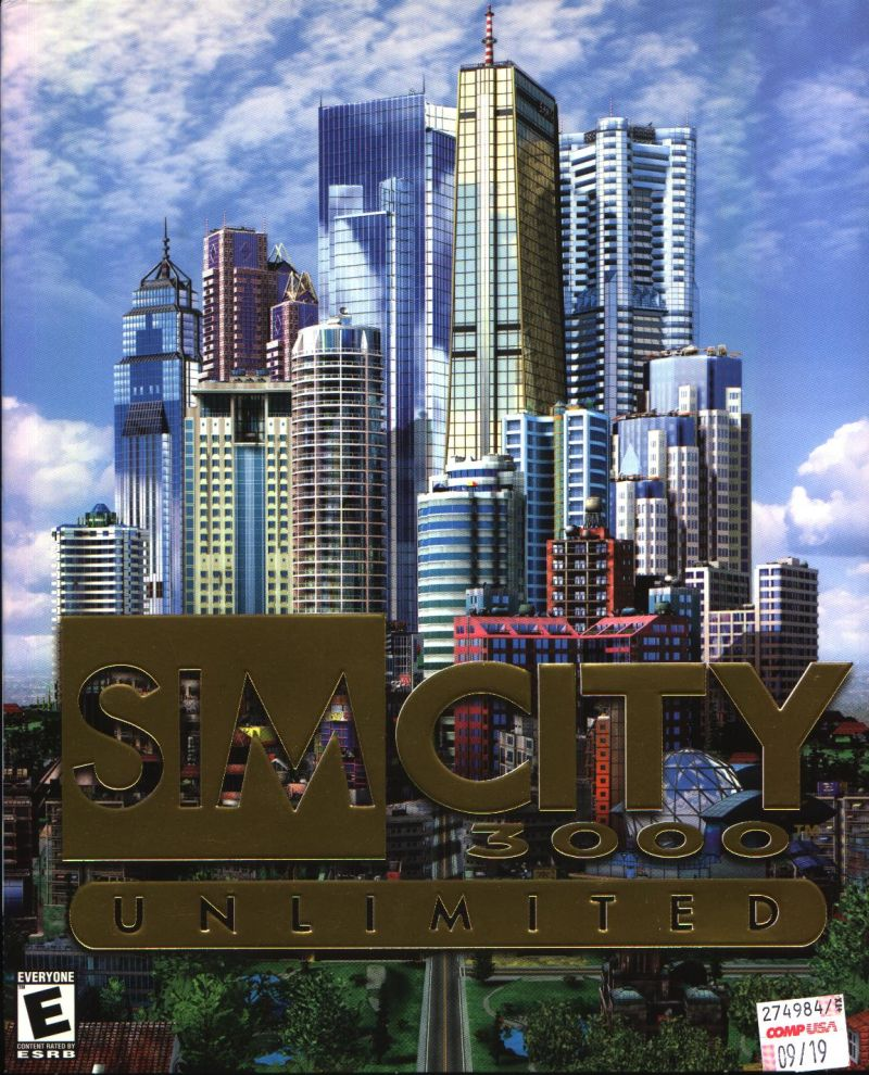 SimCity 3000 Unlimited Windows Front Cover