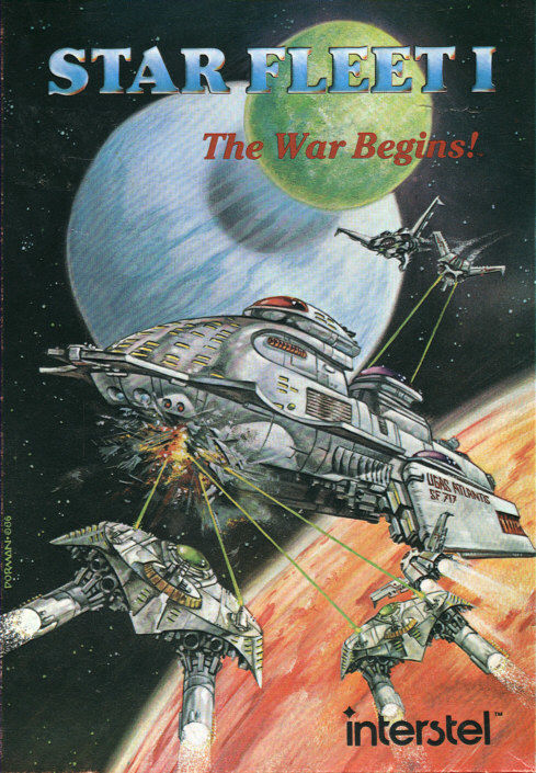 Star Fleet I: The War Begins! DOS Front Cover