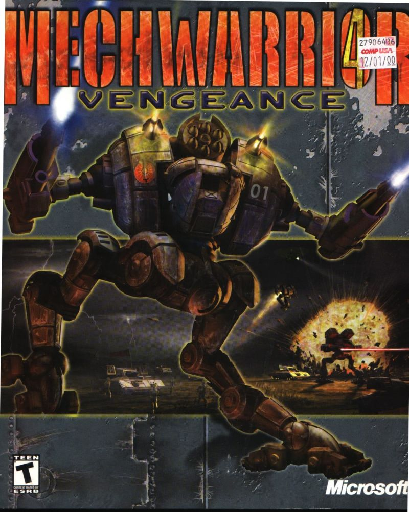 Mech warrior 4 vengeance 2000 pc