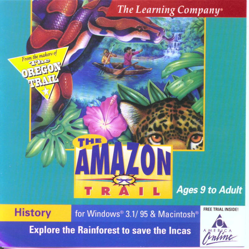 The Amazon Trail Macintosh Front Cover