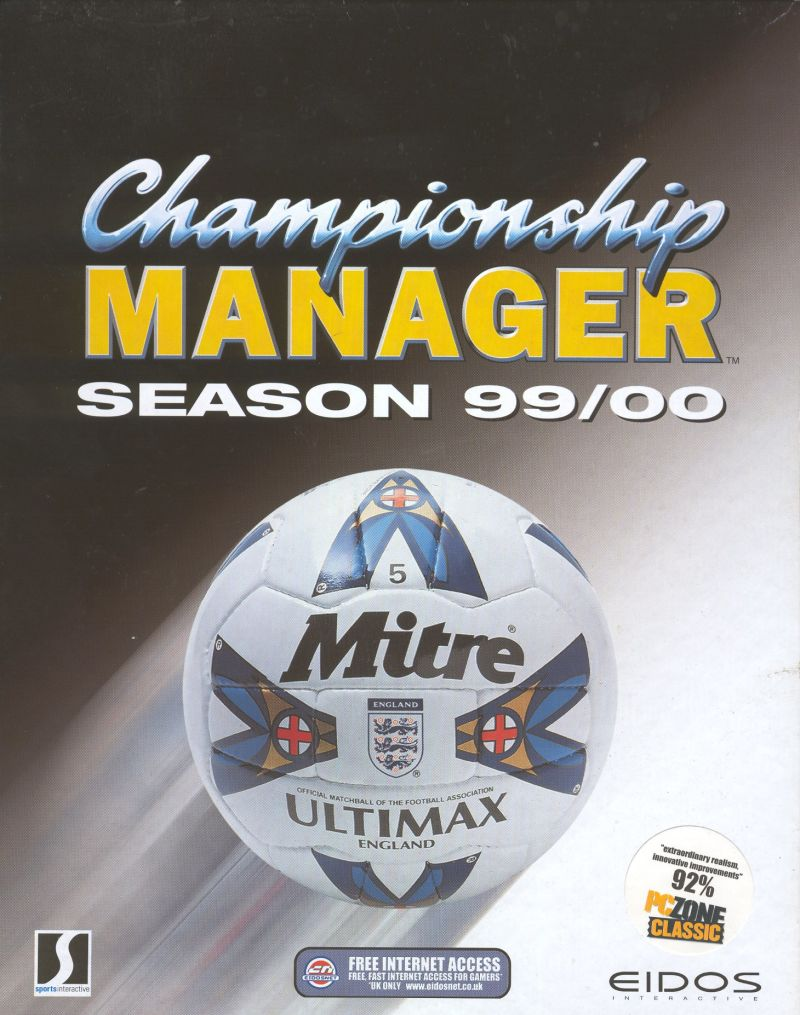 Championship Manager: Season 99/00 Windows Front Cover