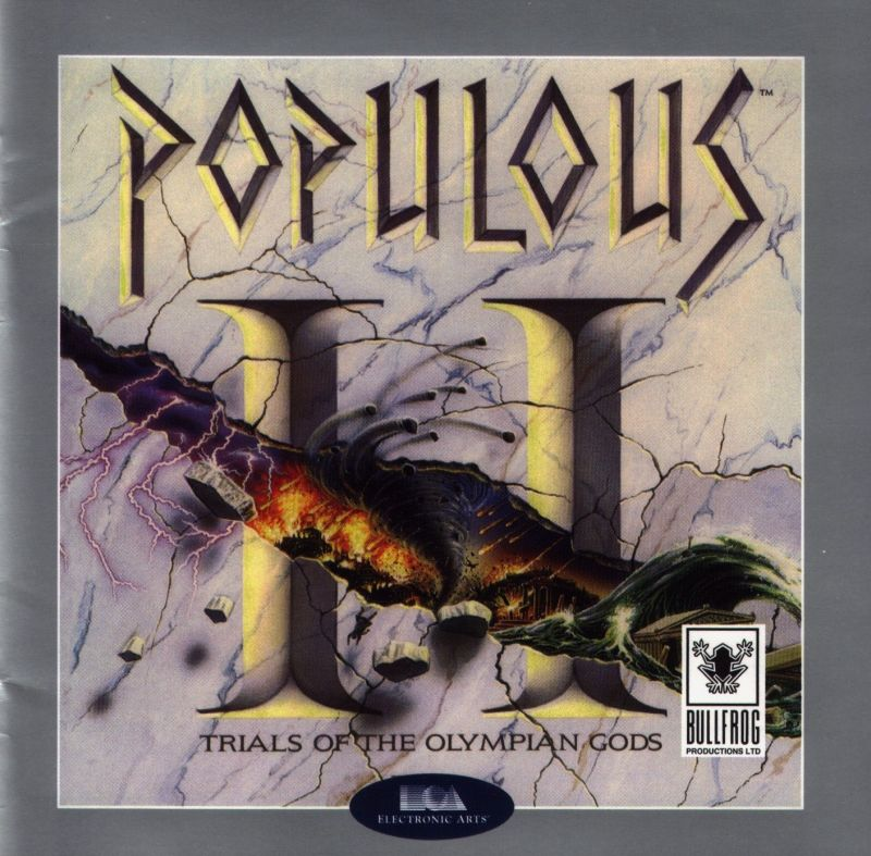 Populous II: Trials of the Olympian Gods DOS Front Cover