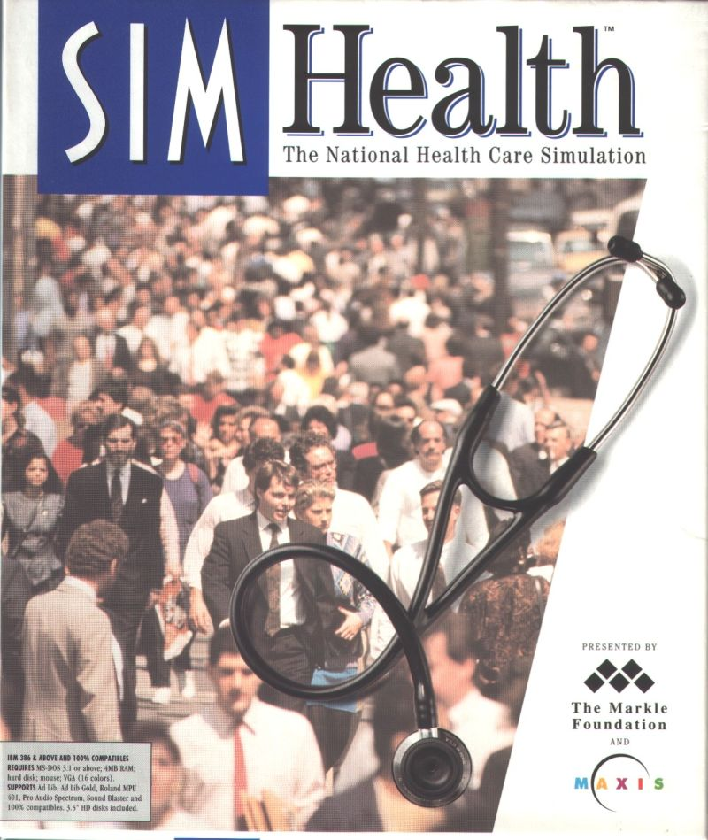 SimHealth DOS Front Cover
