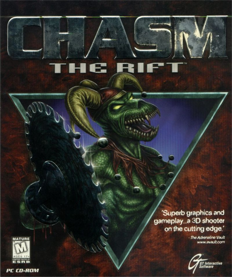 Chasm: The Rift DOS Front Cover