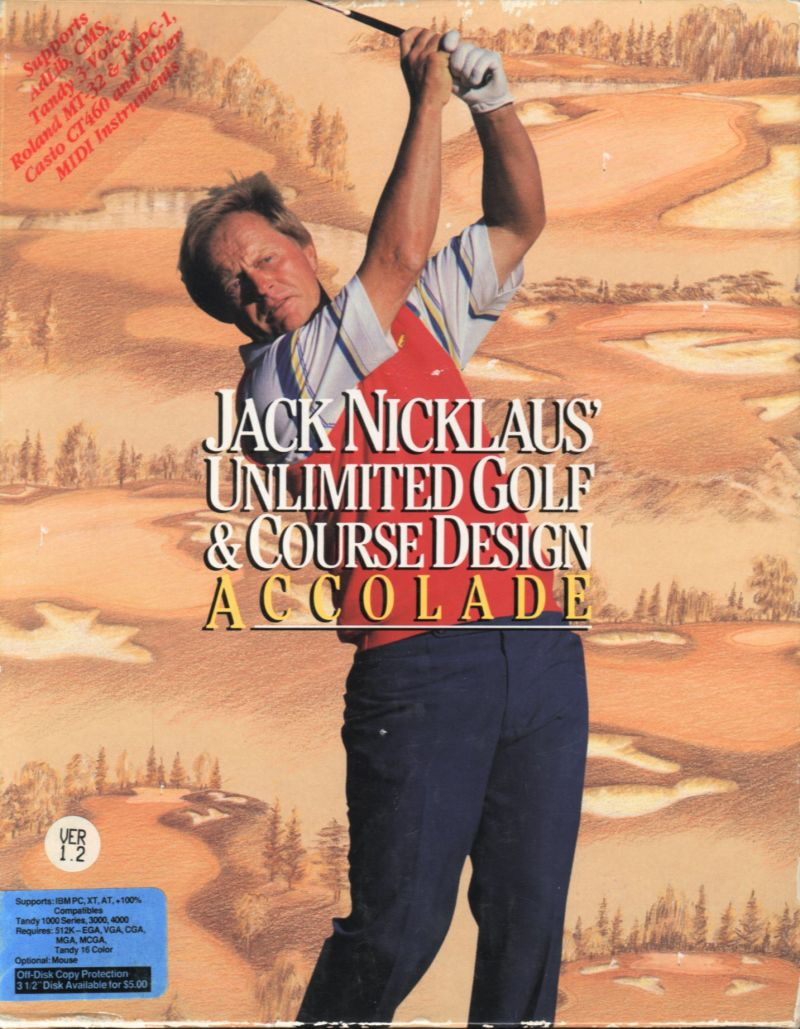 Jack Nicklaus' Unlimited Golf & Course Design DOS Front Cover