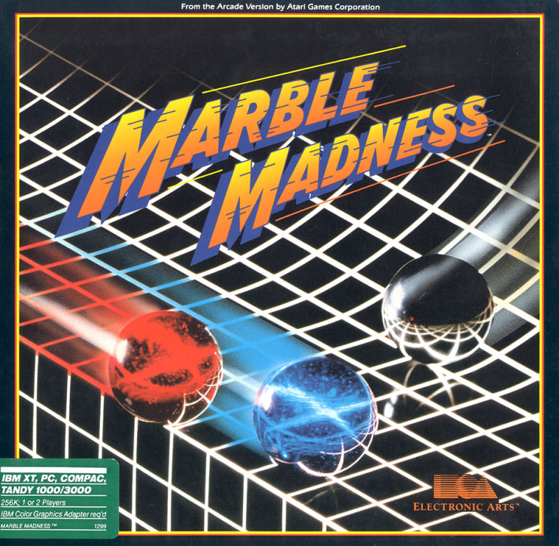 Marble Madness PC Booter Front Cover