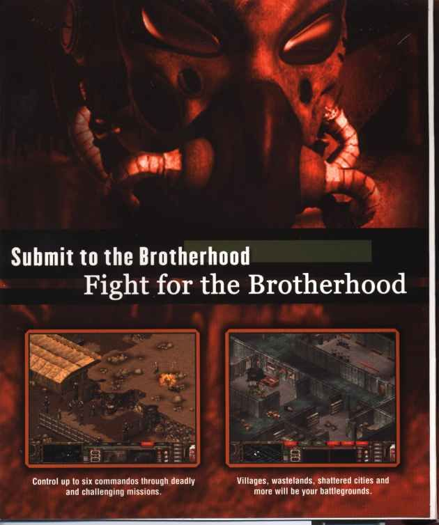 Fallout Tactics: Brotherhood of Steel  Windows Inside Cover Right Flap