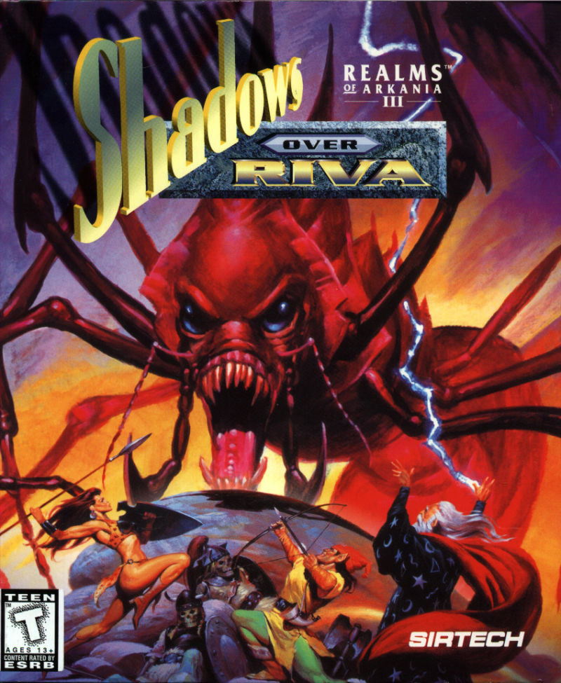 Realms of Arkania III: Shadows over Riva DOS Front Cover