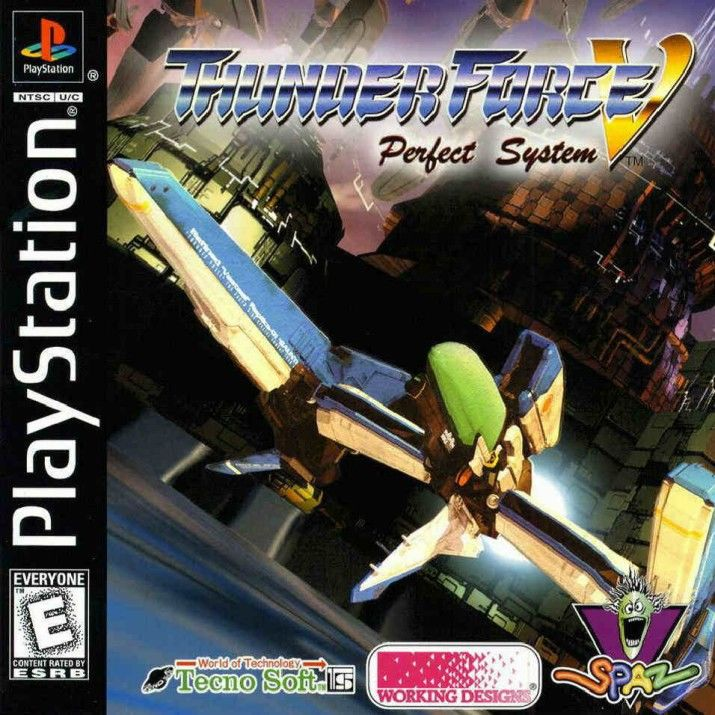 Thunder Force V: Perfect System PlayStation Front Cover