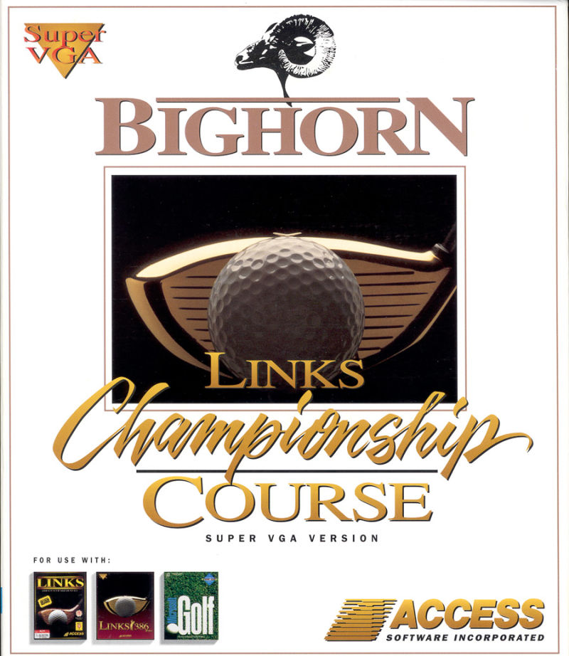Links: Championship Course - Bighorn DOS Front Cover