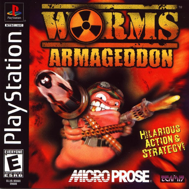 Worms Armageddon PlayStation Front Cover