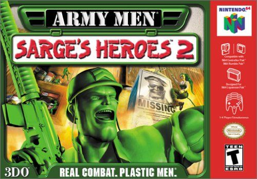 Army Men: Sarge's Heroes 2 Nintendo 64 Front Cover