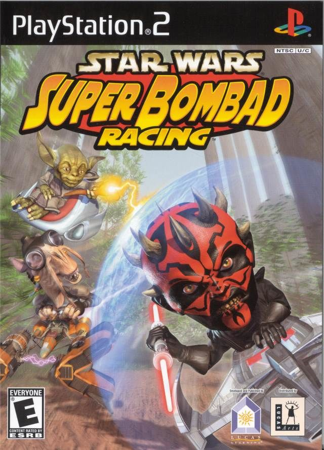 Star Wars: Super Bombad Racing PlayStation 2 Front Cover