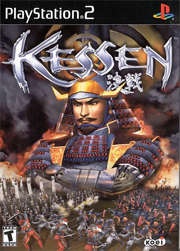 Kessen PlayStation 2 Front Cover