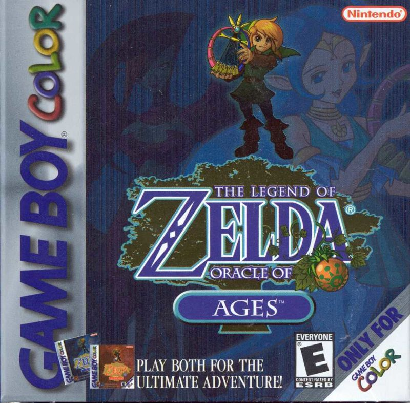 The Legend of Zelda: Oracle of Ages Game Boy Color Front Cover