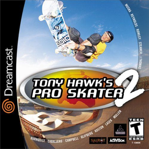Tony Hawk's Pro Skater 2 Dreamcast Front Cover