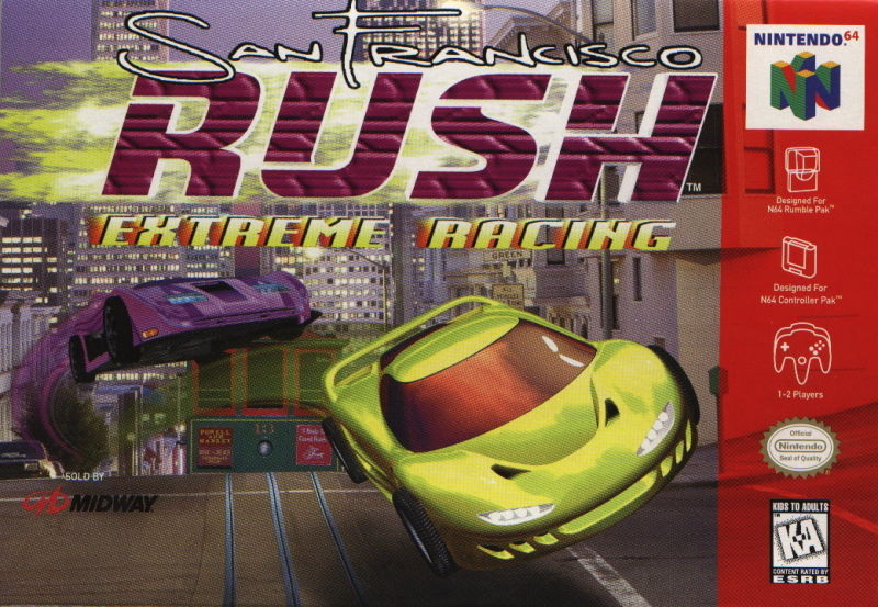 San Francisco Rush: Extreme Racing Nintendo 64 Front Cover